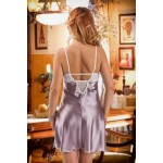 plus size-042  Frida  White Satin Chemise with Cute Pockets S-6XL Bridal Lingerie-Nine X